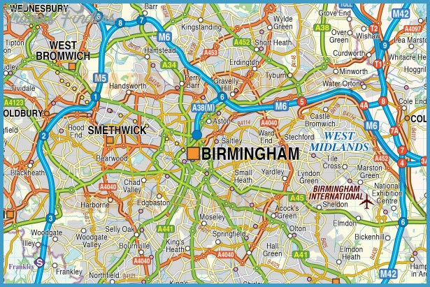 Digital vector map of Greater Birmingham-Coventry @250k scale in ...