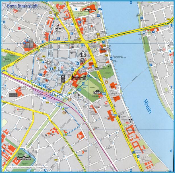 Bonn Tourist Map See map details From iskp.uni-bonn.de