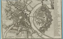 Map of Dresden, 1800, J. Stockdale