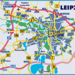 Map of Leipzig and its neighborhood showing the autobahn network ...