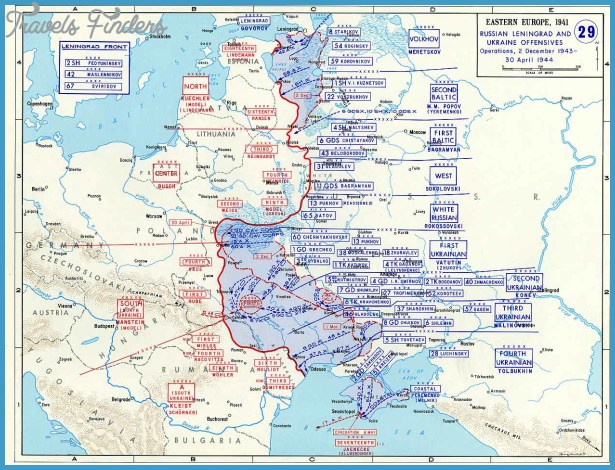 Map of Leningrad and Ukraine Offensives (December 1943-April 1944