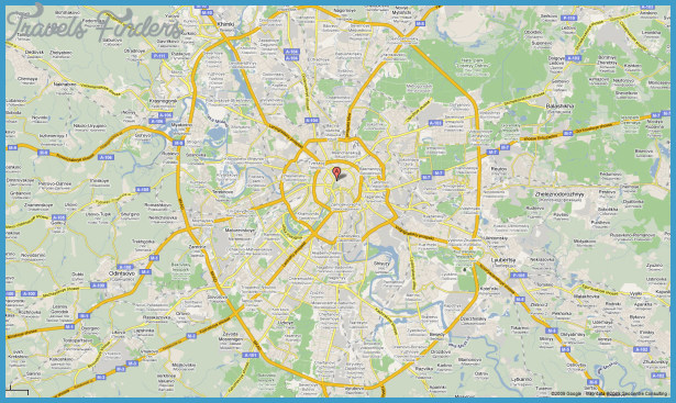 Map of Moscow - TravelsFinders.Com ®