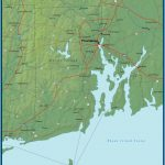 Map of Rhode Island and the Surrounding Region