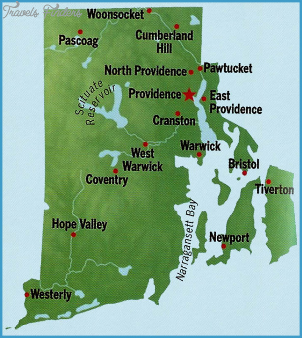 Map of Rhode Island TravelsFindersCom