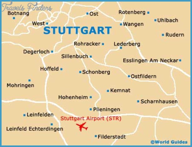 Map Of Stuttgart Travelsfinders Com