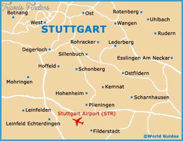 Stuttgart Germany Map Map of Stuttgart   TravelsFinders.®