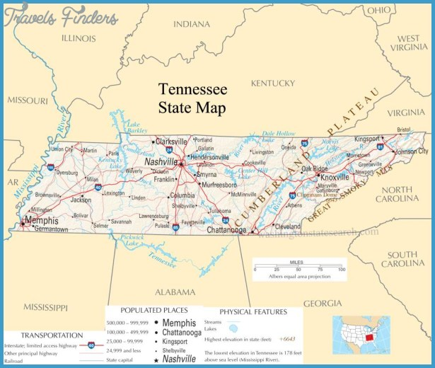 Map Of Tennessee TravelsFindersCom - Map of tennessee