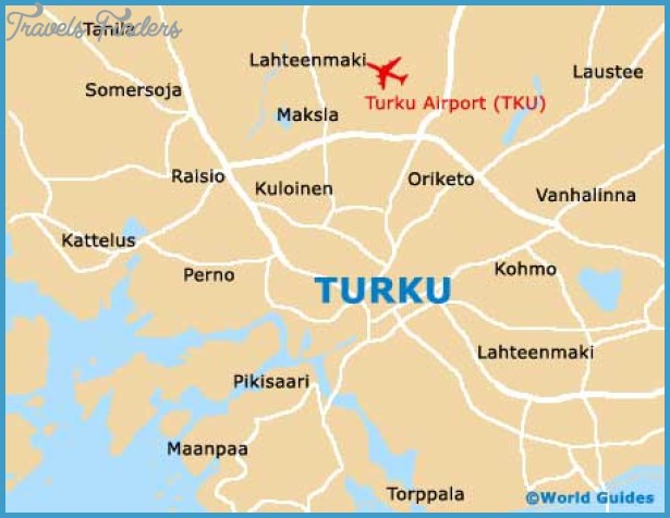 Map Of Turku TravelsFindersCom