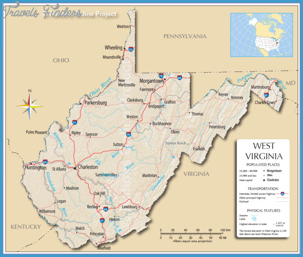 Reference Map of West Virginia