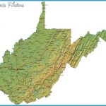 Detailed West Virginia Map - WV Terrain Map