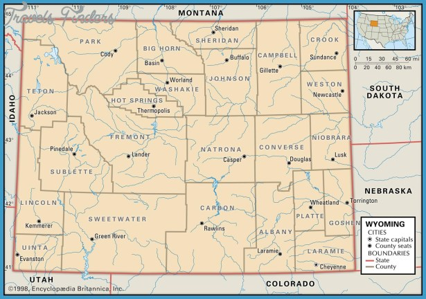 Map Of Wyoming Travel Map Vacations TravelsFindersCom - A map of wyoming