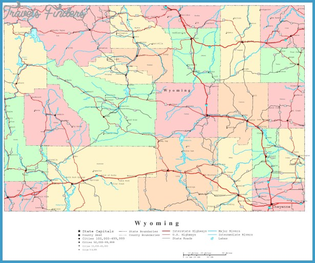 MAP OF WYOMING | World Map Of İmages