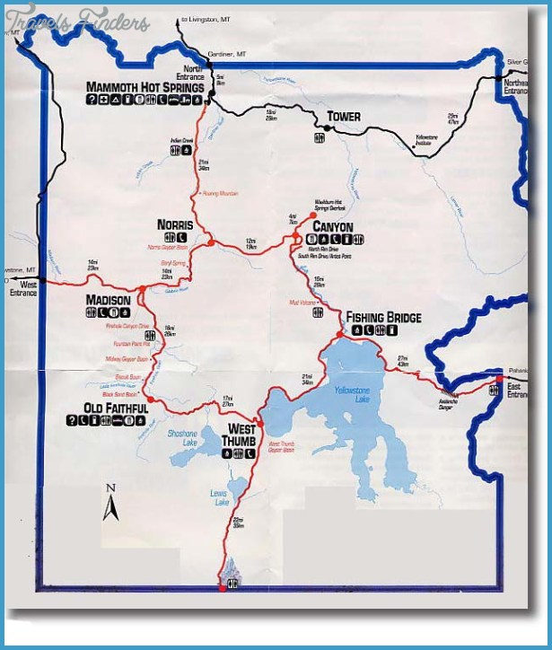 Yellowstone map