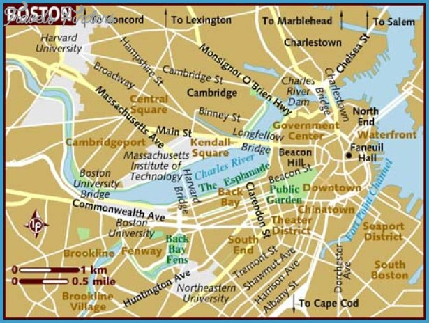 Map of Boston By www.lonelyplanet.com