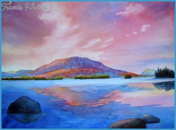 , Maine- Katahdin from Millinocket Lake - Evelyn Dunphy, Artist