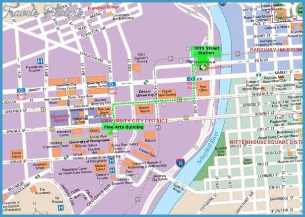 Philadelphia Map Usa Archives Travel Map Vacations - Philadelphia map in usa