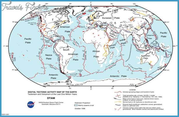 Plate Tectonics And Yellowstone Travel Map Vacations - Plate tectonics map