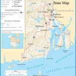 Rhode Island State Map - A large detailed map of Rhode Island State