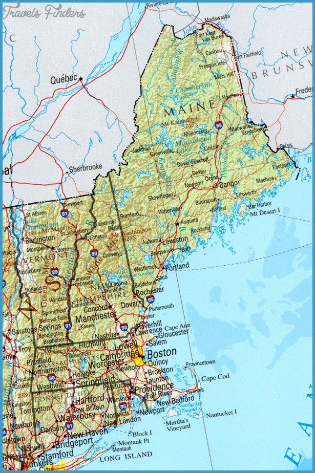 Discover the USA - Map - Rhode Island
