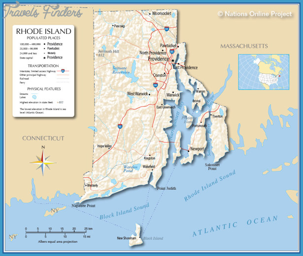 Map of Rhode Island, Rhode Island Maps - Mapsof.net