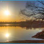 Sunrise Over Sebasticook Lake by John Meader