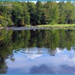 The Sebasticook River in Pittsfield, Maine is a popular fishing