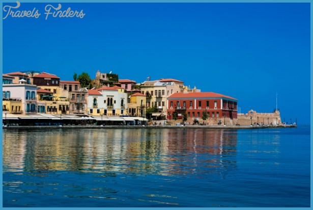 sights-and-attractions-in-crete-beautiful-cityscape-and-bay-in-city-of ...