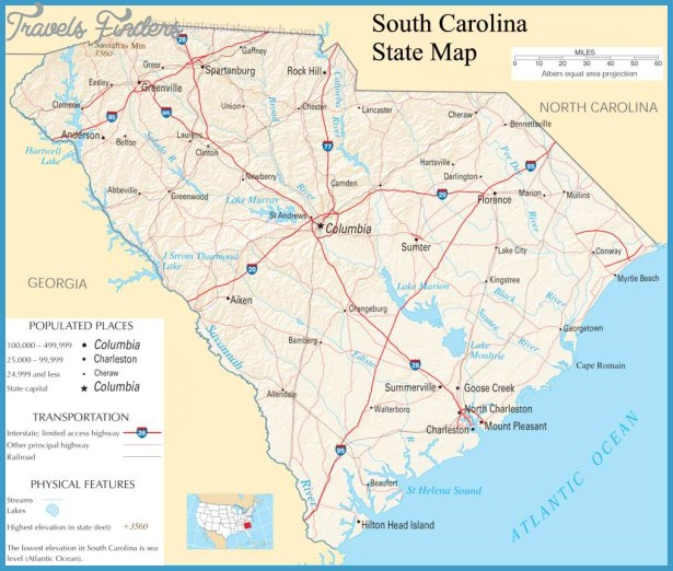 Detailed Map Of South Carolina