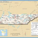 Tennessee Cities and Counties Map