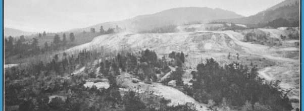 Springs, general view from Fort Hill. Yellowstone. - NARA - 517638.tif