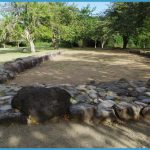 Ancient Ball Court at the Tibes Indian Ceremonial Center near Ponce ...
