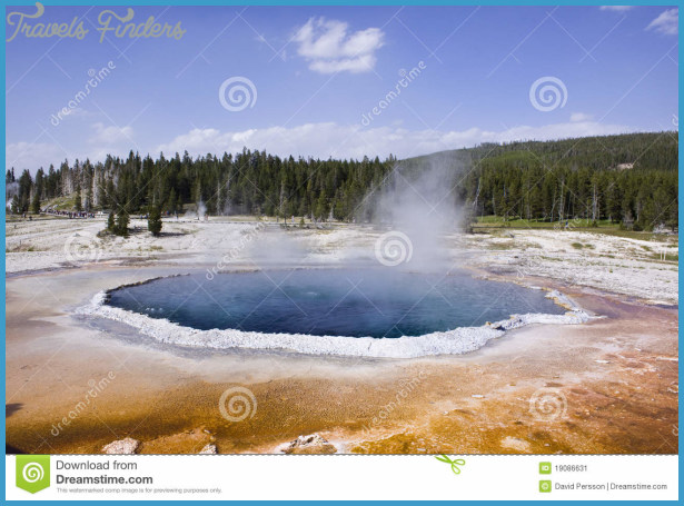 Upper Geyser Basin Yellowstone Stock Image - Image: 19086631