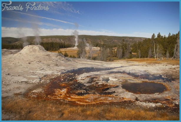 of Lion Geyser group, Upper Geyser Basin, Yellowstone National Park