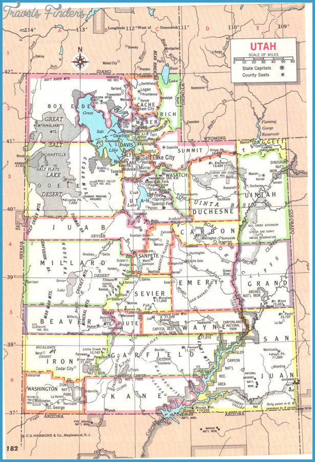 Utah Map Tourist Attractions – Tourist Attractions Map In Utah