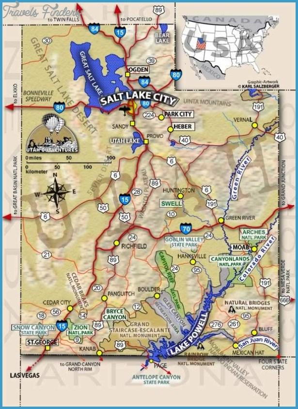 Map Of Utah Cities. Utah Travel Map