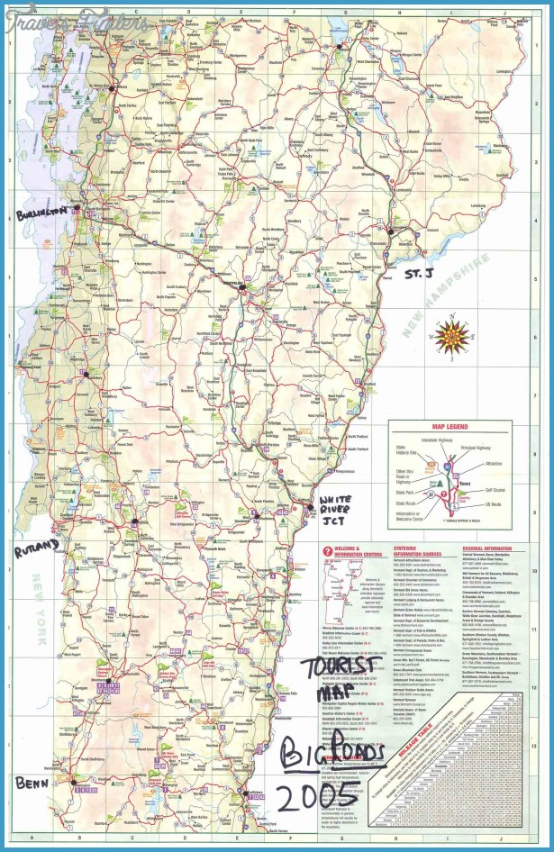 Vermont Map Tourist Attractions – Vermont Tourist Attractions Map