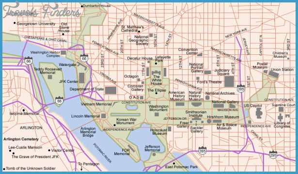 Washington Map Tourist Attractions  Travel  Map  Vacations
