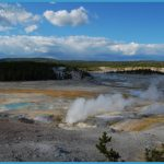 The view across Norris Geyser Basin of the Yellowstone Caldera. Image