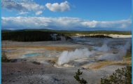 The view across Norris Geyser Basin of the Yellowstone Caldera. Image ...