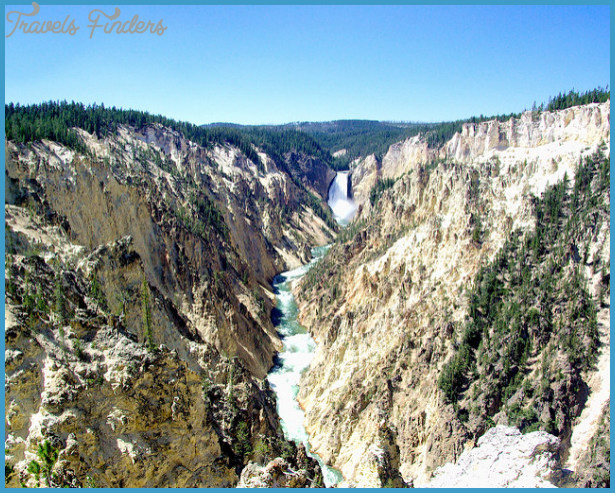 Grand Canyon of the Yellowstone - Lower Falls from Artist Point ...