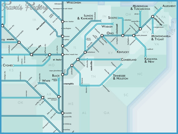 Subway-style river maps - Boing Boing