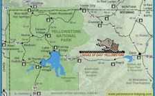 from cody wyoming to the east entrance of yellowstone national park