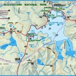 Yellowstone NP Map - Yellowstone Lake - Lewis Lake - Shoshone Lake ...