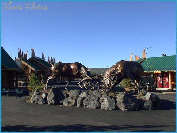 West Yellowstone, juste à l'entrée du parc Yellowstone!