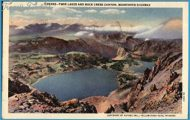 Twin Lakes and Rock Creek Canyon, Beartooth Highway Yellowstone ...