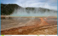 Yellowstone Volcanism In Full Glory Royalty Free Stock Photos - Image