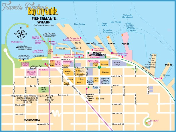 San Francisco Map Tourist.San Francisco Map Tourist Attractions Travelsfinders Com