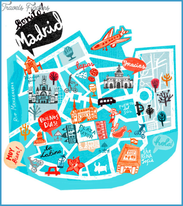 madrid tourist attractions map pdf