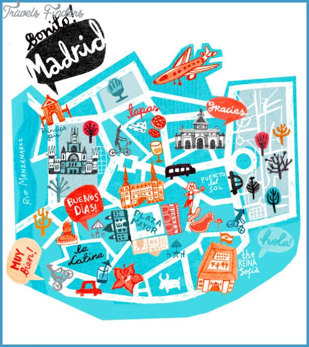 Madrid Map Tourist Attractions TravelsFindersCom