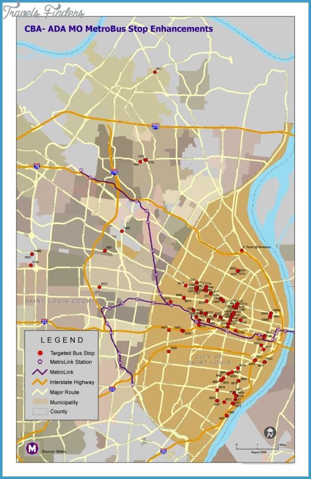St Louis Metro Map TravelsFindersCom